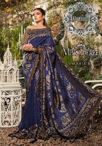 Maria B Chiffon Saree Collection 2020 Wedding  Dresses
