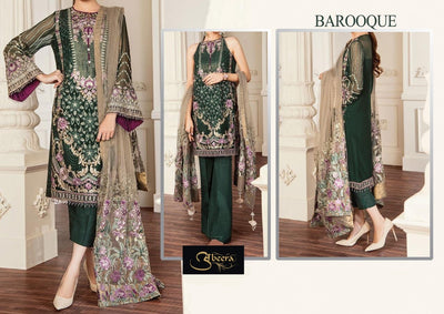 Baroque 80/80 pure lawn with printed chiffon dupatta