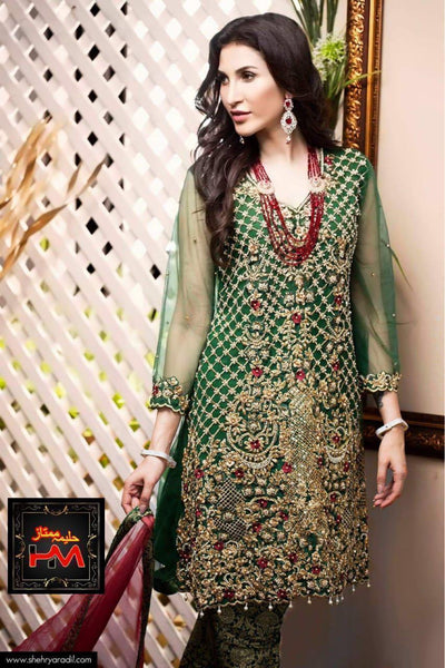 Zainab Chottani Organza Embroidery Suit Net Embroidered Dupatta