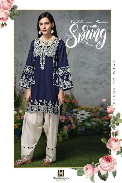 Mausumery lilan embroidery suit 2 pice kameez shalwar