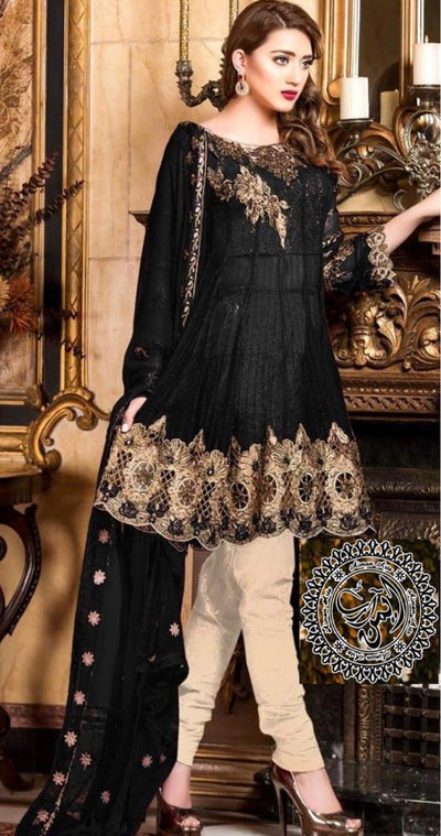Maryam 's Net Embroidery Suit Net Embroidered Dupatta