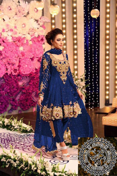Kashee 's Chiffon Embroidery Suit Net Embroidered Dupatta