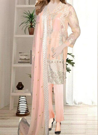Baroque Chiffon Embroidery Suit Chiffon Embroidery Duppata