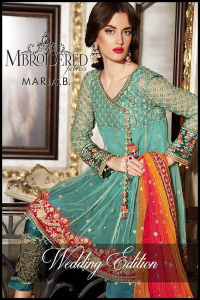 Maria B Net Embroidery Suit Net Embroidery Duppata