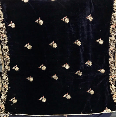 VELVET SHAWL NEW ARRIVAL  Heavy Embroidered with  sequence