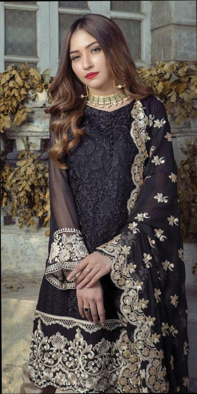 Agha Noor🔥 This Design include....  Fabric...chiffon&Satin Front full heavy Embroided