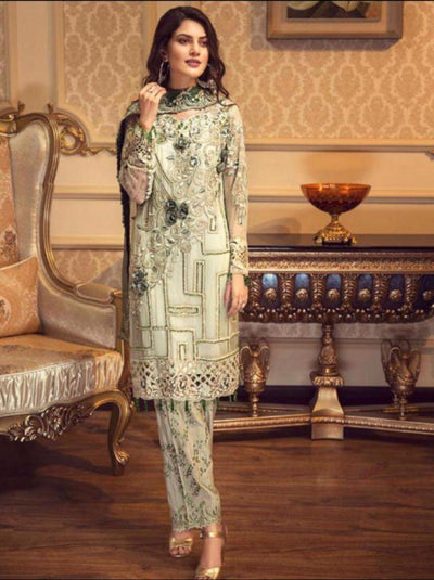 Zabtan Chiffon Embroidery Suit Chiffon Embroidered Dupatta