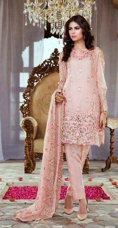 Serene Chiffon Embroidery Suit Chiffon Embroidered Dupatta