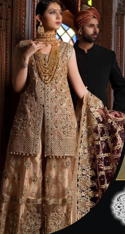 Maryam N Maria Chiffon Embroidery Suit Net Embroidery Dupatta