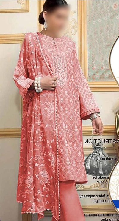 Shiwani Lawn Embroidery Suit Chiffon Embroidered Dupatta