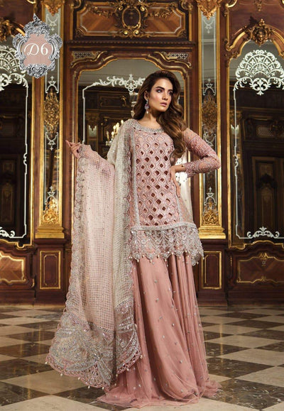 Maria b mehsori net embroidery suit with embroidery net Dupatta