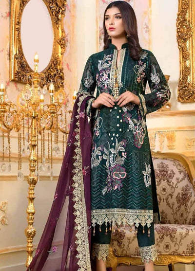Maryam N Maria Chiffon Embroidery Suit Chiffon Embroidered Dupptaa