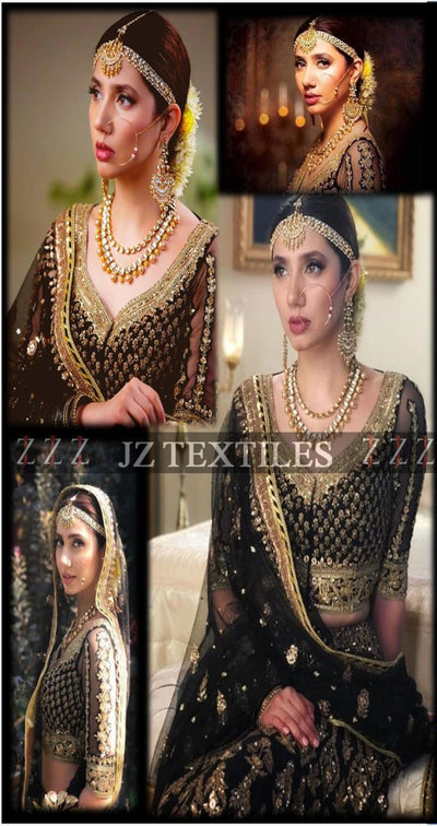 JZ TEXTILES  Chiffon Embroidery Suit Dori Embroidered Dupptaa with 4 Side Applic