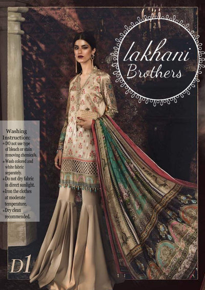 Maria B Silk Embroidery Suit Dupatta Silk Digital Print