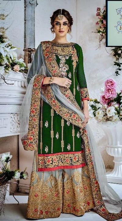 Indian Bridal Chiffon Embroidery Suit Chiffon Embroidered Dupptaa