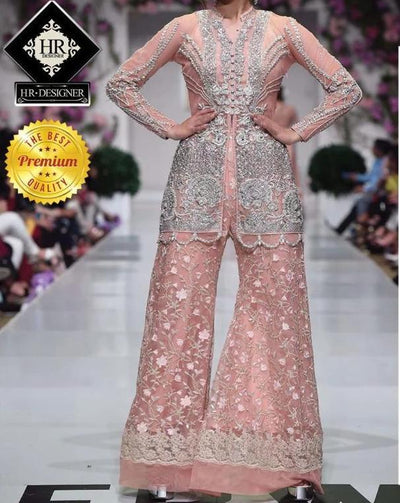 Zainab Chottani Net Embroidery Suit DUPATTA FULLY EMBROIDERED WITH HANDWORK