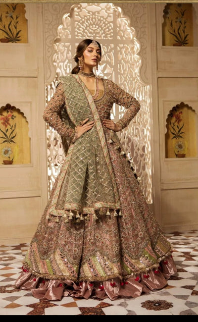 MARIA.B BRIDAL LUXURY COLLECTION  FABRIC (FRONT BODY).....NET (FRONT)....NET (DUPATTA)....NET (TROUSER)....MALAI