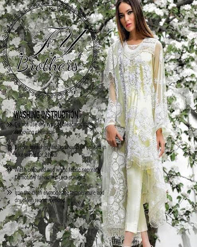 Sana Safinaz Net Embroidery Suit Net Embroidery Dupatta