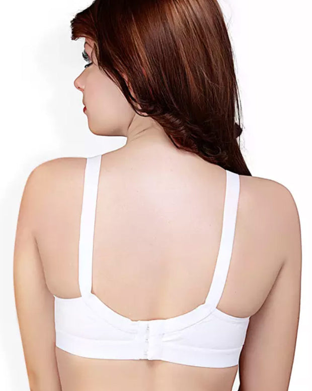 Basic Bra - White - Cotton Bra - Non Padded Bra - Non Wired Bra