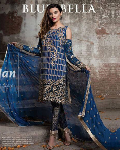 Wijdan Chiffon  Master Blaster Replica With Full Embroidered Dupatta (Replica)(Unstitched)