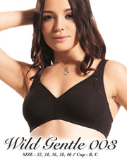 Wild Gentle 003 Bra - Flourish Bra - Cotton Bra - Non Padded Non Wired Bra