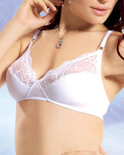 Wild Gentle 001 Bra - Flourish - White