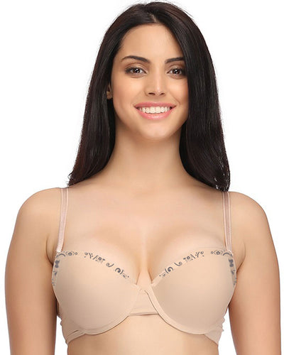 Skin Single Padded Underwire Bra - Bras - diKHAWA Online Shopping in Pakistan