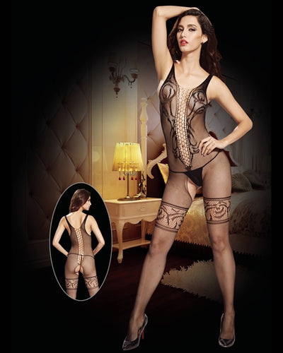 Vaqua Body Stocking Fishnet Dress - Ladies Sexy Net Dresses - 8924