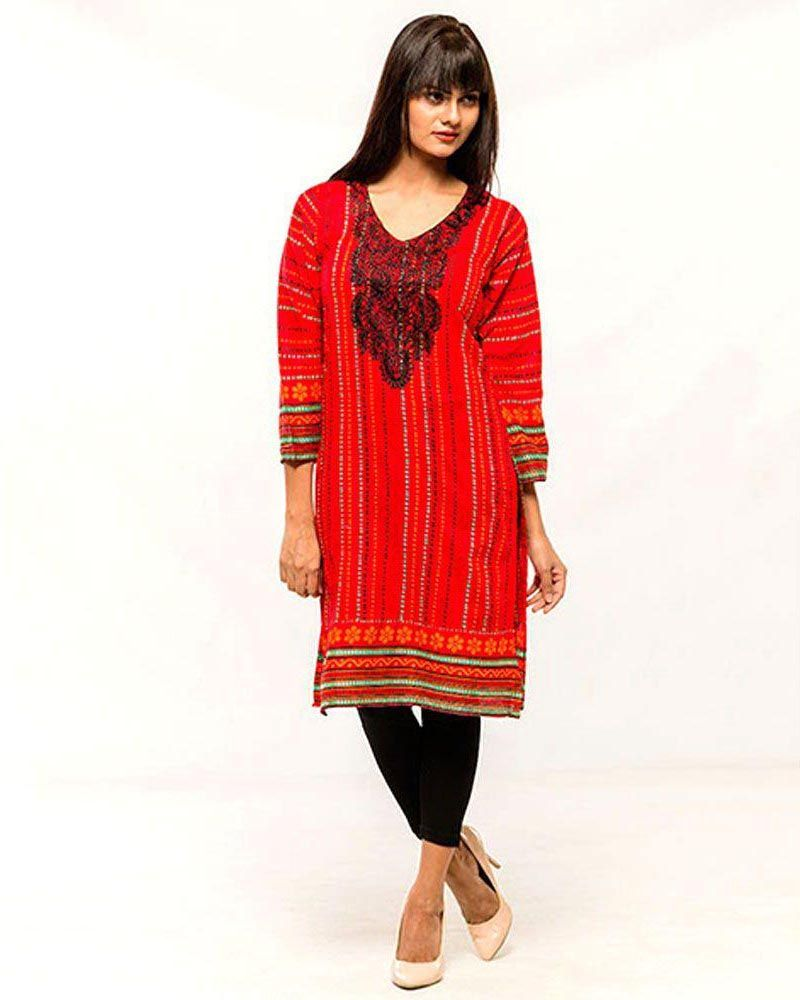 fde069787e68 Women Embroidered Stitched Kurti - VK – 7 - Kurti - diKHAWA Online Shopping  in Pakistan ...