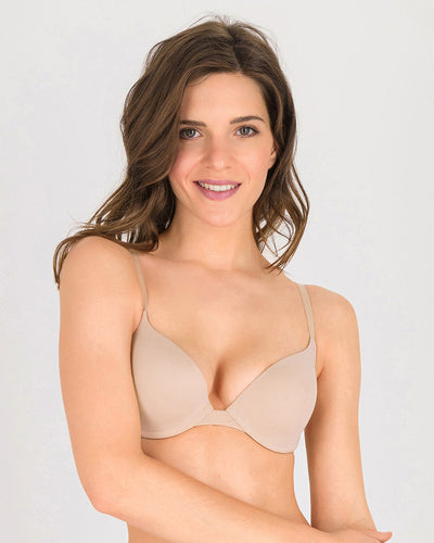 Luchina Push Up Bra - Skin - T-Shirt Bra Double Padded Push Up Bra - Spanish Brand