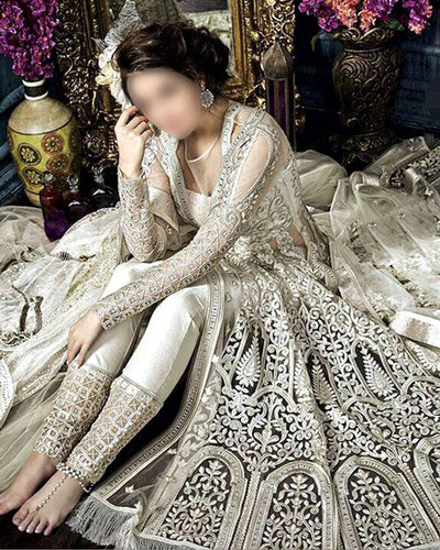 Zoya Luxury Bridal Collection With Fully Embroidered Net Dupatta (Replica)(Unstitched)