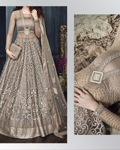 ZOYA LUXURY FULL SUIT ON NET EMBROIDERED COLLECTION (Replica)(Unstitched)