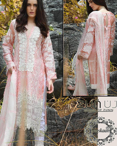 Zunuj International Luxury Chiffon Collection (Replica)(Unstitched)