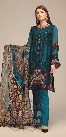 Khaadi Chiffon Dresses - Embroidered Chiffon Dupatta - Replica - Unstitched
