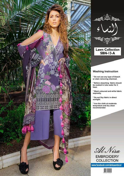Sobia Nazir Collection Lawn With Chiffon Dupatta - Replica - Unstitched