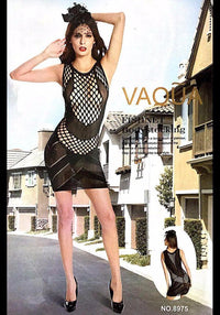 Vaqua Body Stocking Fishnet Dress - Ladies Sexy Net Dresses - 8975 - Body Stocking - diKHAWA Online Shopping in Pakistan