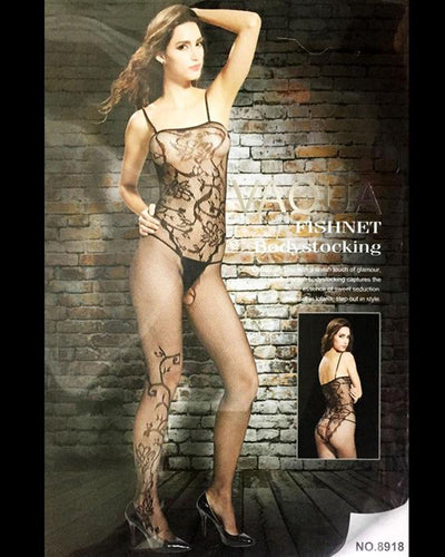Vaqua Body Stocking Fishnet Dress - Ladies Sexy Net Dresses - 8918