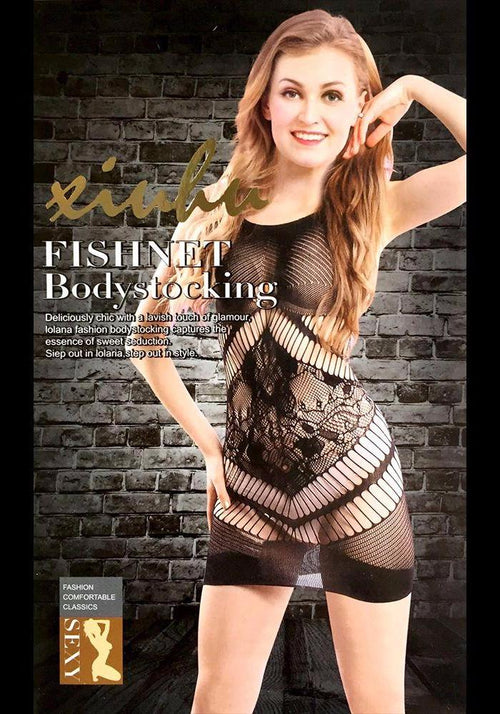 Body Stocking Fishnet Dress - Ladies Sexy Net Dresses - SN108 - Body Stocking - diKHAWA Online Shopping in Pakistan