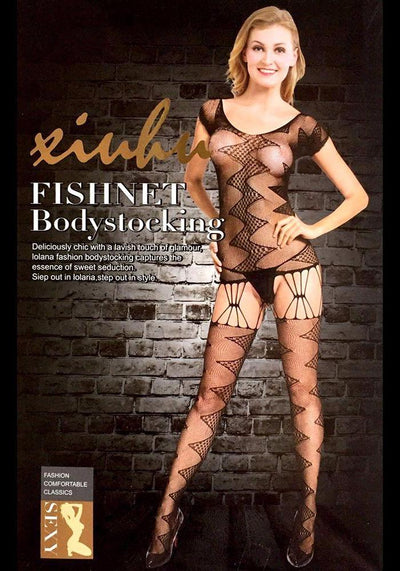 Body Stocking Fishnet Dress - Ladies Sexy Net Dresses - SN106 - Body Stocking - diKHAWA Online Shopping in Pakistan