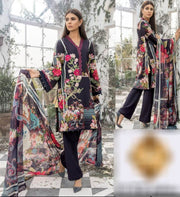 Firdouse Collection Fabric Lawn Dupatta Chiffon - Replica - Unstitched