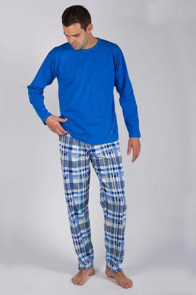 Dilios Branded T-Shirt & Trouser For Men's-Blue Combo Pack - Mens Nightdress - diKHAWA Online Shopping in Pakistan