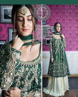 DEEPAK PARWANI (BRIDAL SHARARA)(Replica) (Unstitched)