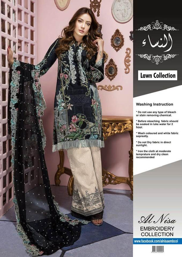 Firdous Collection With Lawn Dupatta Printed Lawn Front - Replica - Unstitched