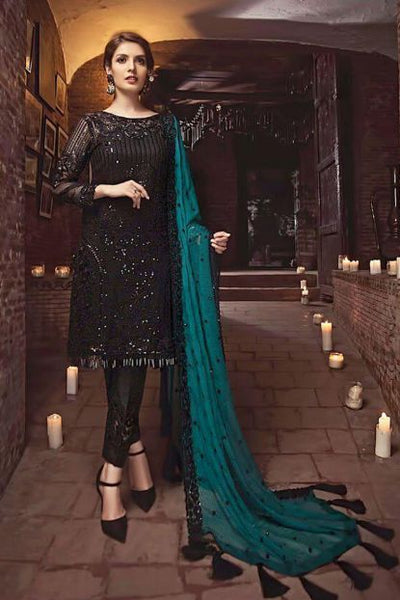 Serene Chiffon Dresses - Embroidered Chiffon Dupatta - Replica - Unstitched