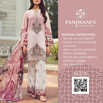 Barouqa Collection Printed Lawn Front With Embroidered Gale - Replica - Unstitched