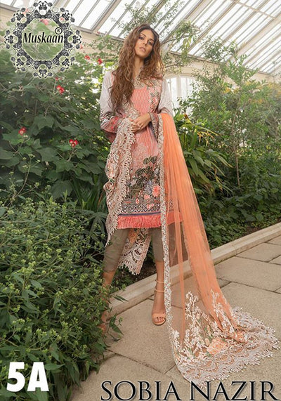 Sobia Nazir Lawn Collection Fabric Swiss Lawn - Replica - Unstitched