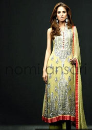 NOMI ANSARI CHIFFON SUIT - Replica - Unstitched