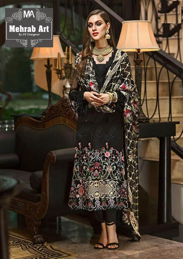 Nishat Collection Lawn With Chiffon Dupatta Front Embroided - Replica - Unstitched