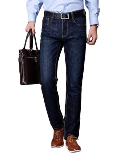Denim Blue Loose Fit Jeans For Men - Branded Loose Fit Jeans