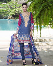 Jhalak Lawn Suits 3 Piece - 1802-A (Original) (Unstitched)